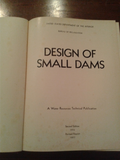 Design of small dams - United States department of the interior
