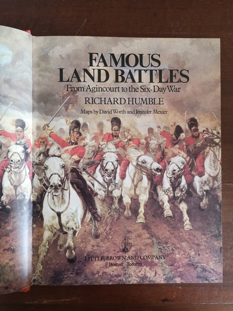 Famous Land Battles, from Agincourt to the Six-Day War (Hardcover) by Richard Humble (Author)